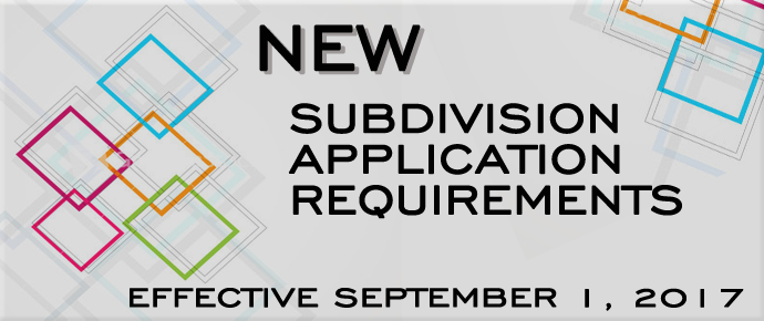 Subdivision Application Map